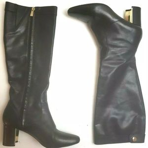 Pour La Victoire Leather Knee High Boots